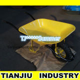 Metal Galvanized Tray Wheelbarrow Wb6400A for Construction