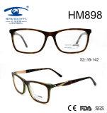 New Fashion Eyeglass Embossed Acetate Eyewear Frame (HM898)