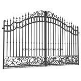 Traditional Hand-Made Wrought Iron Double Swing Gate for House