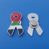 UAE Flag Ribbon Shape Magnet Pins for National Day Gifts