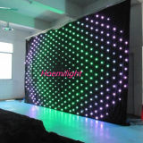 P18 3m*3m RGB3in1 Color, LED Vision Curtain, LED Video Screen, DJ Backdrops for Wedding, Stage,