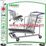 Supermarket Warehouse Cargo Trolleys with Brake