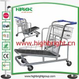 Supermarket Warehouse Cargo Trolleys with Two Barriers