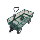 Steel Heavy Duty Utility Wagon Yard Lawn Garden Cart Supplies