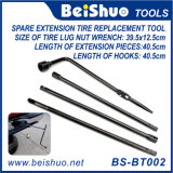 5 Piece Lug Wrench Extension Steel Kit Premium Spare Tire Tool