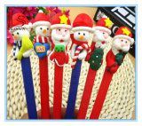 Christmas Decoration Gift Polymer Clay Santa Claus Christmas Ballpoint Pen
