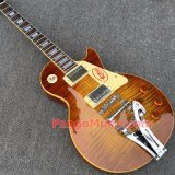 Pango Lp Standard Electric Guitar with Bigsby Vibrato, Tobacco Burst Flame Maple (PLP-043)