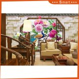 Peacock and Peony Flower Photo 3D Home Decoration Oil Painting