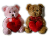 Plush and Stuffed Teddy Bear with Heart for Valentine's Toy/Plush and Stuffed Animal Toy (GT-20131014)