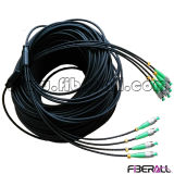 Indoor Armored Multi-Core Fan-out Optical Fiber Patch Cable