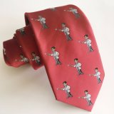 Custom High Quality Silk Woven Logo Tie (L024)