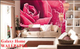 Guangzhou 2014 New Design of Galaxy Home Wallcovering Rose Wallpaper