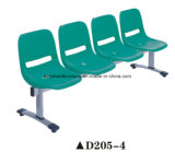 2016 New 4-Seater Plastic Public Station Waiting Chair D205-4