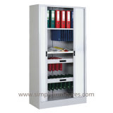 Tambour Door Stationary Steel Cabinet