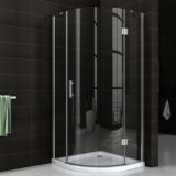 Italian Chrome Tempered Glass Round Corner Shower Enclosure