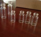 Clear Plain Screwed Glass Vial with High Quality