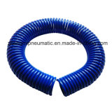 1/2'' PU Coiled Hose; Water Tube for Water (black coil hose with male and female fittings)