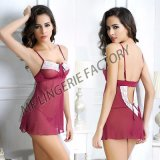Women Babydoll Sexy Lingerie Transparent Sleepwear Lace Chemises Outfit