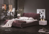 High Quality Bedroom Furniture Modern Fabric Double Bed (L875)