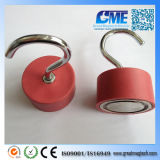 Rubber Coated D45X25mm Neodymium Pot Magnet