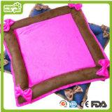 Bowknot Decoration Plush Material Pet Cushion (HN-pH323)