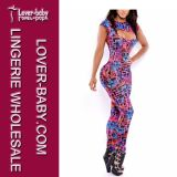 Summer Printing Fashion Jumpsuit Pant for Lady (L55122)