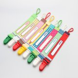 Soother Chain for Funny Cartoon Printed Ribbon Plastic Pacifier Clip 1