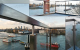 Antirust Stainless Steel Post Glas Fence / Stainless Steel Railing