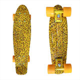 22inch PP Mini Skateboard Cruiser Complete Skateboards Banana Skateboard Leopard Design-8