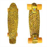 22inch PP Mini Skateboard Cruiser Complete Skateboards Banana Skateboard Leopard Design-8
