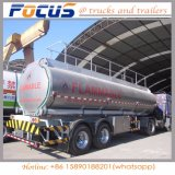 3 Axles Aluminum Tanker Truck Semi Trailer for Fuel/Water/Wine
