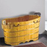 Hight Quality Bathroom Wooden Soaking SPA Bath Tub (NJ-049)