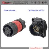 Cnlinko Provide 5pin Straight Male Round Connector and Round Steel Tube Connector with Screw Cable Pack