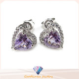 Lady Silver Earring for Semi Precious Stone (E5061)