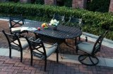 Cast Aluminum 7 PC Dining Set Garden Furniture