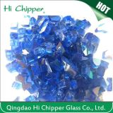Blue Reflective Tempred Fire Pit Glass Chips
