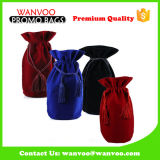 Creative Luxurious Velve Wine Bag with Double Drawstring