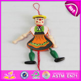 2016 New Products Wooden String Puppet, Most Popular Wooden Puppet, Best Sale Kid Wooden Toy Puppet W02A051