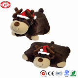 Xmas Moose Square Bear Soft and Comfortable Cushion