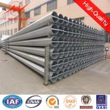 Round 4mm Steel Plate Thickness Galvanized Steel Pole 15m Two Sections