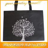 Custom Black Printed Logo Environmental Bags (BLF-NW208)