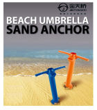 Beach Umbrella Stand (Sand Anchor - Hold Your Umbrella In Place At the Beach - 1 Unit Included Assorted Colors Orange or Blue)