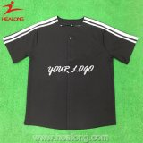 Healong OEM Sportswear Sublimation Printing Dry Fit Baseball Jersey