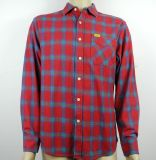 in Stock Items Red Checked Casual Shirts, Fashion Stock Garments