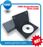 5.2mm 7mm Black Rectangle Single CD DVD Case
