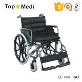 Big Size Bariatric Steel Wheelchair with 125kg Loading Capacity