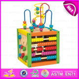 2015 Newest Popular Wooden Bead Abacus Maze Toy, Educational Toys for Children, Wholesale Cheap Funny Wooden Bead Maze Toy W12D024