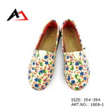 Canvas Shoes Stylish Flower Printing for Women (AK1808-1)
