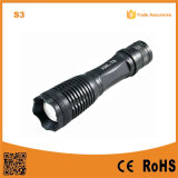 18650 Rechargeable Telescopic CREE Xm-L T6 High Power Flashlight (POPPAS-S3)