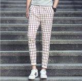 2015 New Korean Men′s Plaid Pants/ Business Casual Slim Fit Pants/Capri Pants